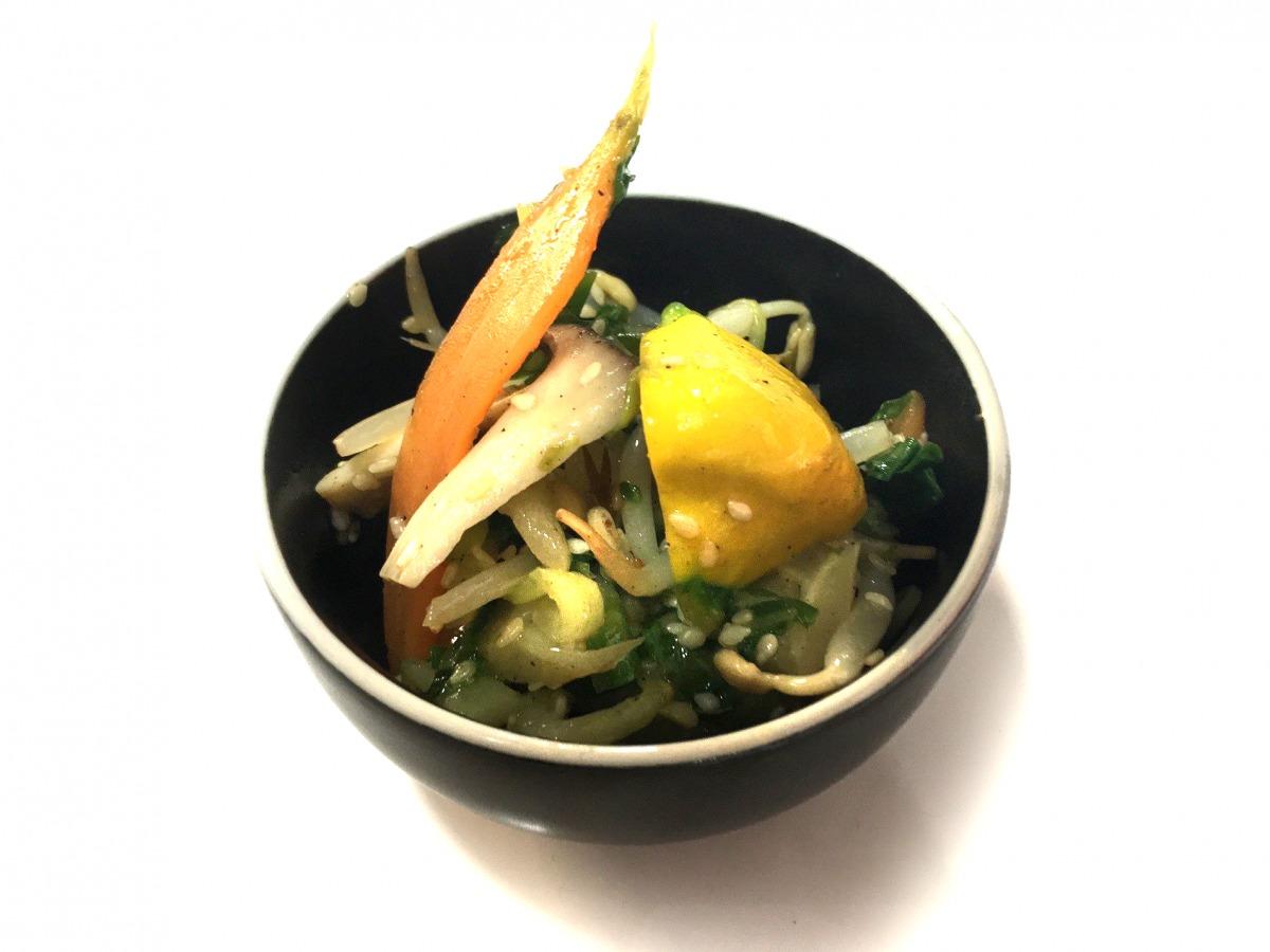 Légumes au wok sans gluten et végétarien